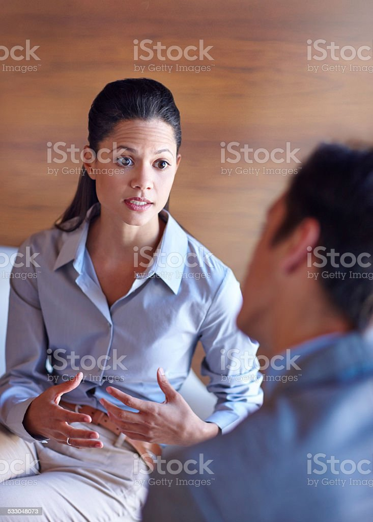 I take this seriously stock photo