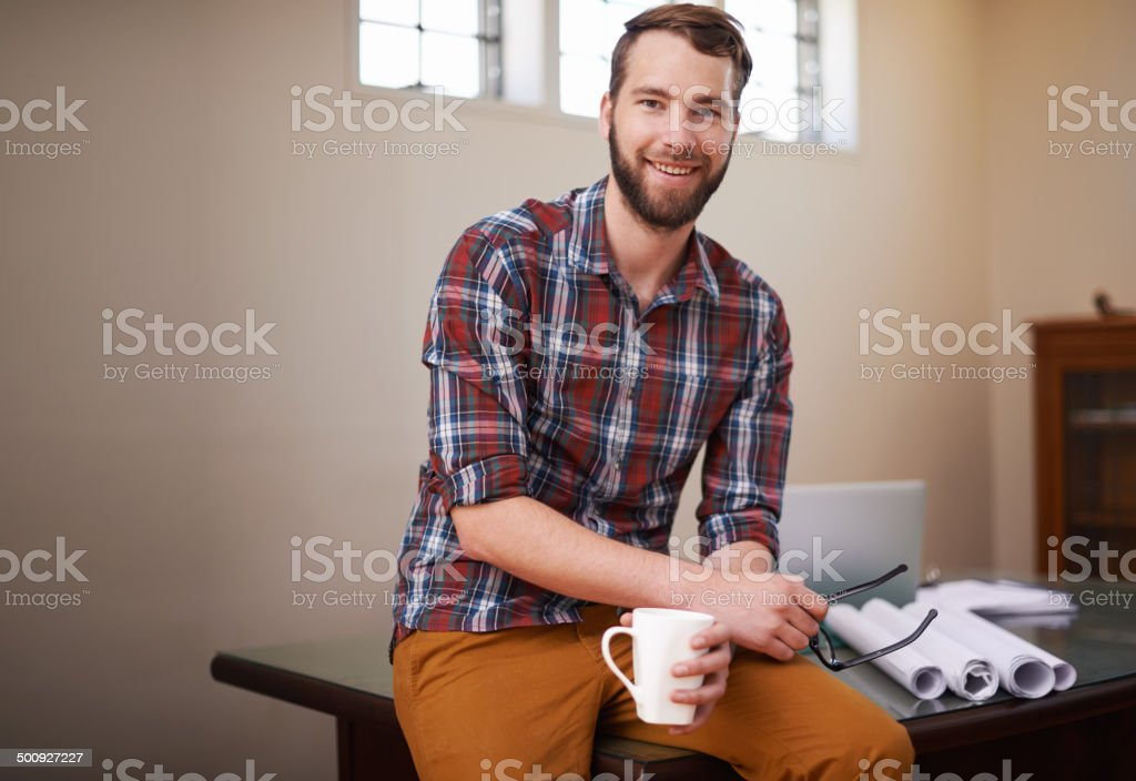Take time out to expresso yourself stock photo