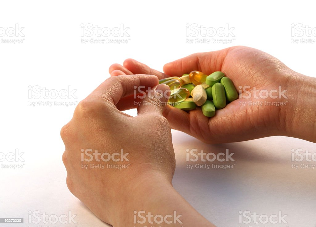 Take vitamin royalty-free stock photo