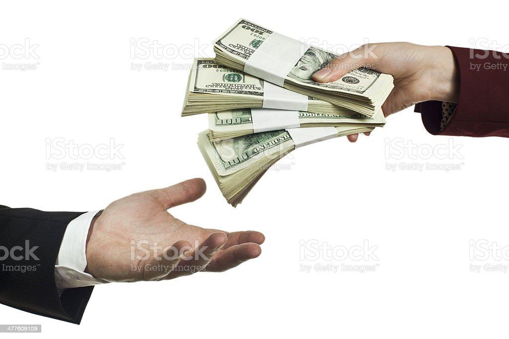 Take your money stock photo