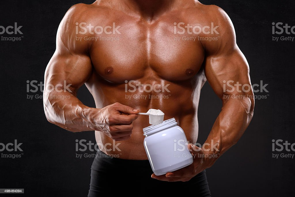 Take your nutritional supplements stock photo