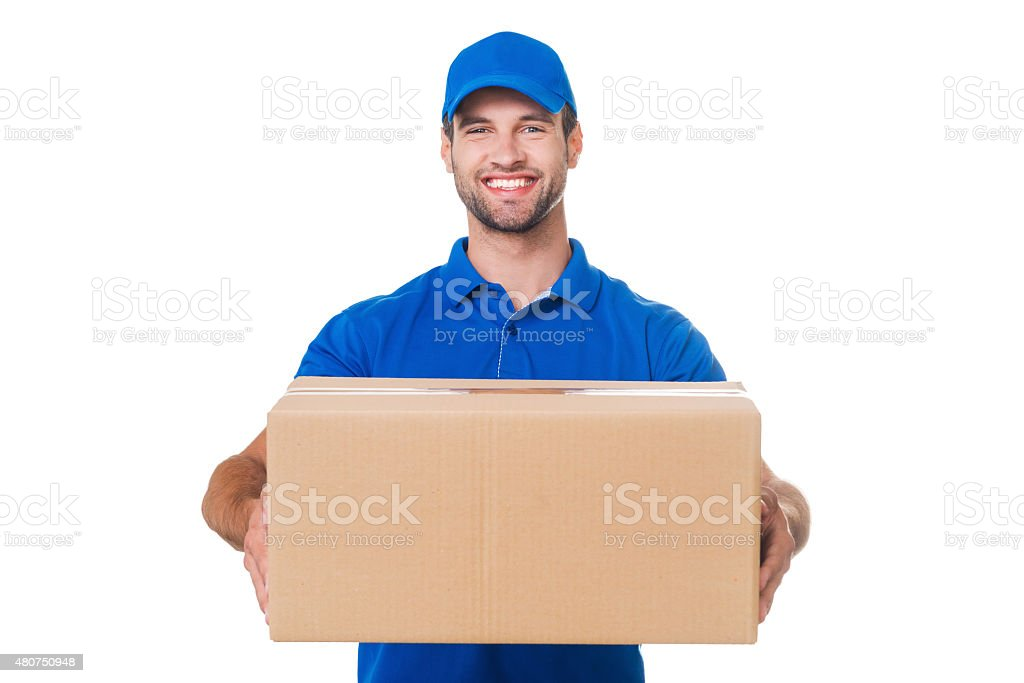 Take your package! stock photo