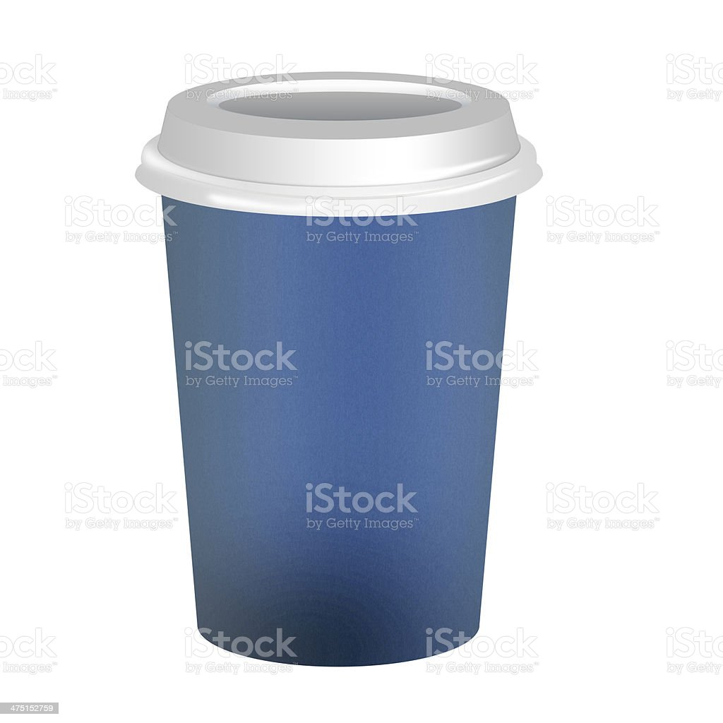 Takeaway coffee cup over white background stock photo