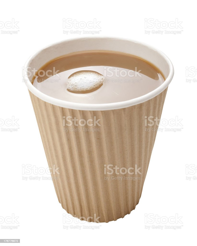 Takeaway Coffee Disposable Cup Milk royalty-free stock photo