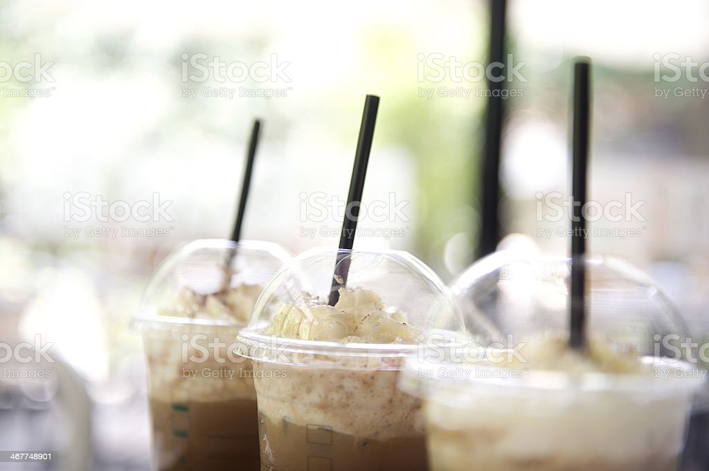 Takeaway Iced Coffee Cup stock photo