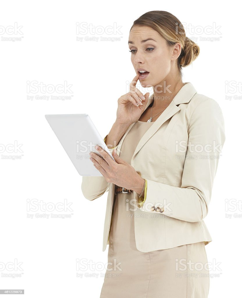 Taken aback by the latest business stats royalty-free stock photo