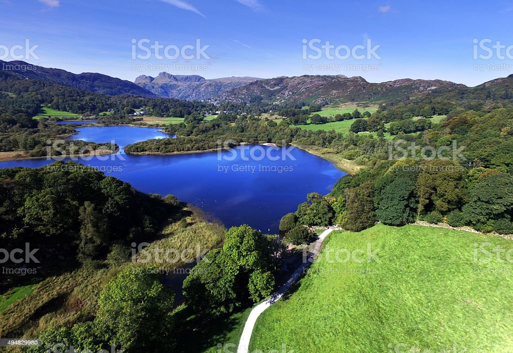 Taken above the River Brathay. stock photo