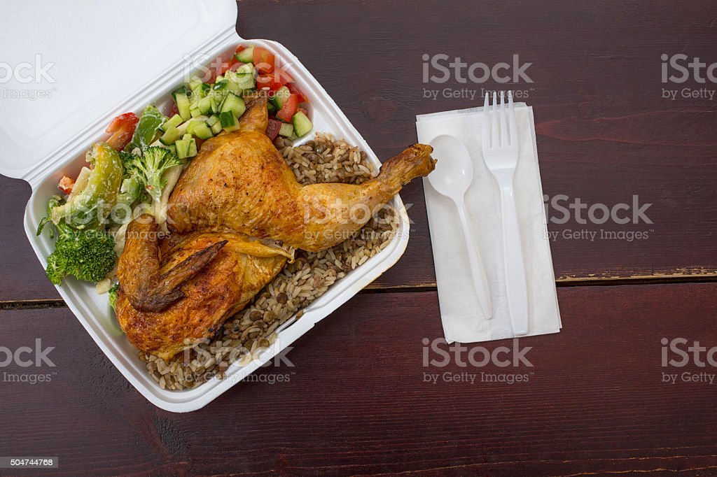 Takeout Food stock photo