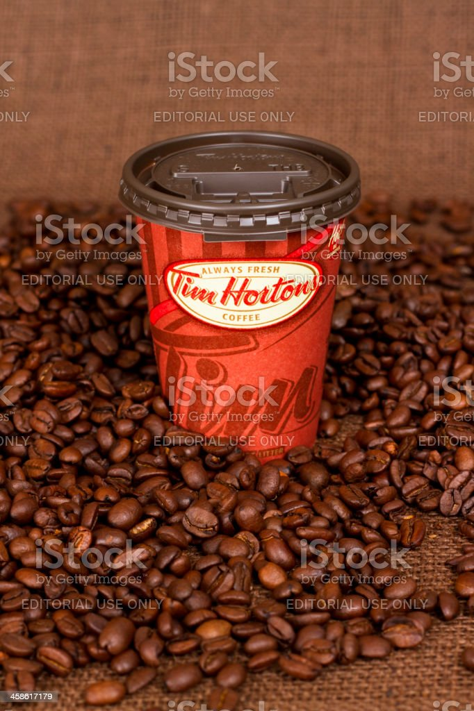 Take-out Tim Hortons  Coffee Cup royalty-free stock photo