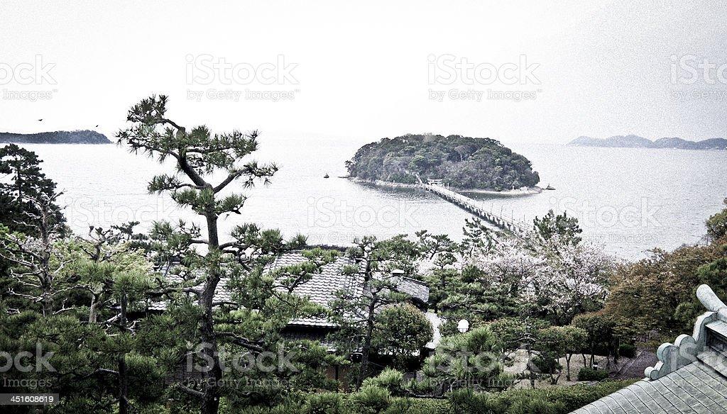 Takeshima island from Prince Hotel stock photo