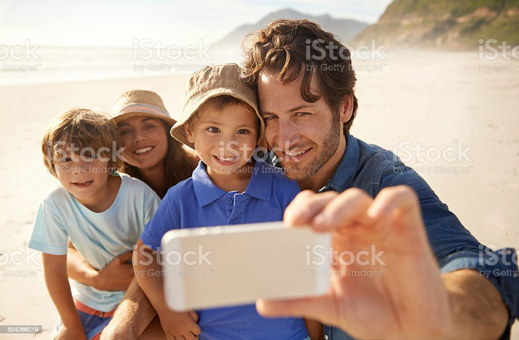 Taking a beautiful day home with them royalty-free stock photo