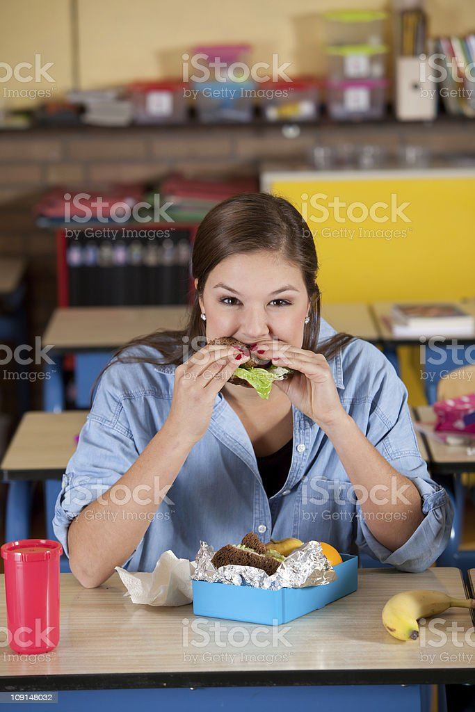 Taking a bite royalty-free stock photo
