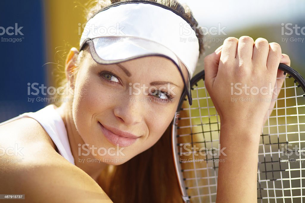 Taking a break after the match royalty-free stock photo