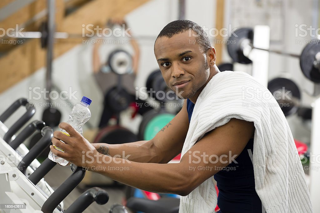 Taking a Break after Working Out royalty-free stock photo