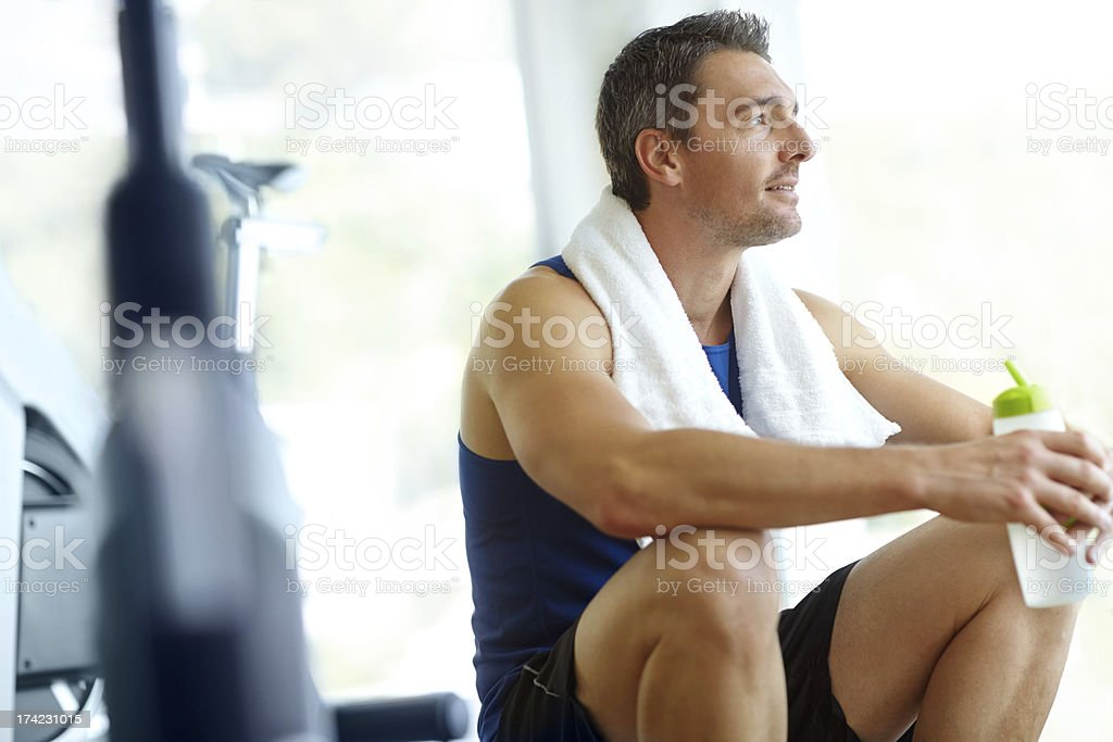Taking a break between sessions royalty-free stock photo