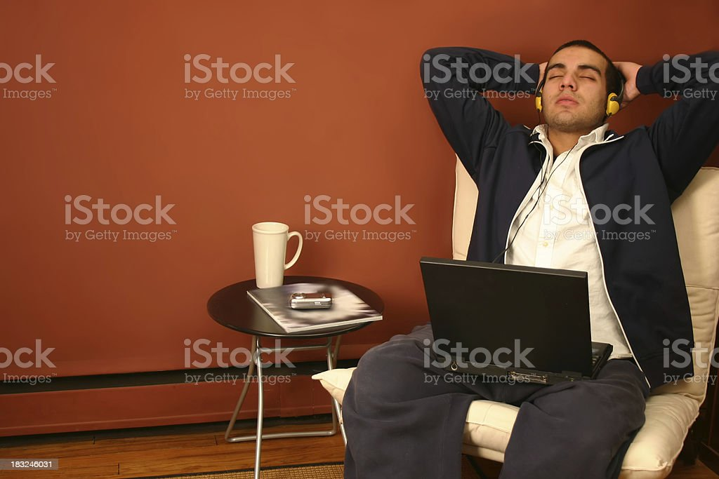 Taking a Break from School Work royalty-free stock photo
