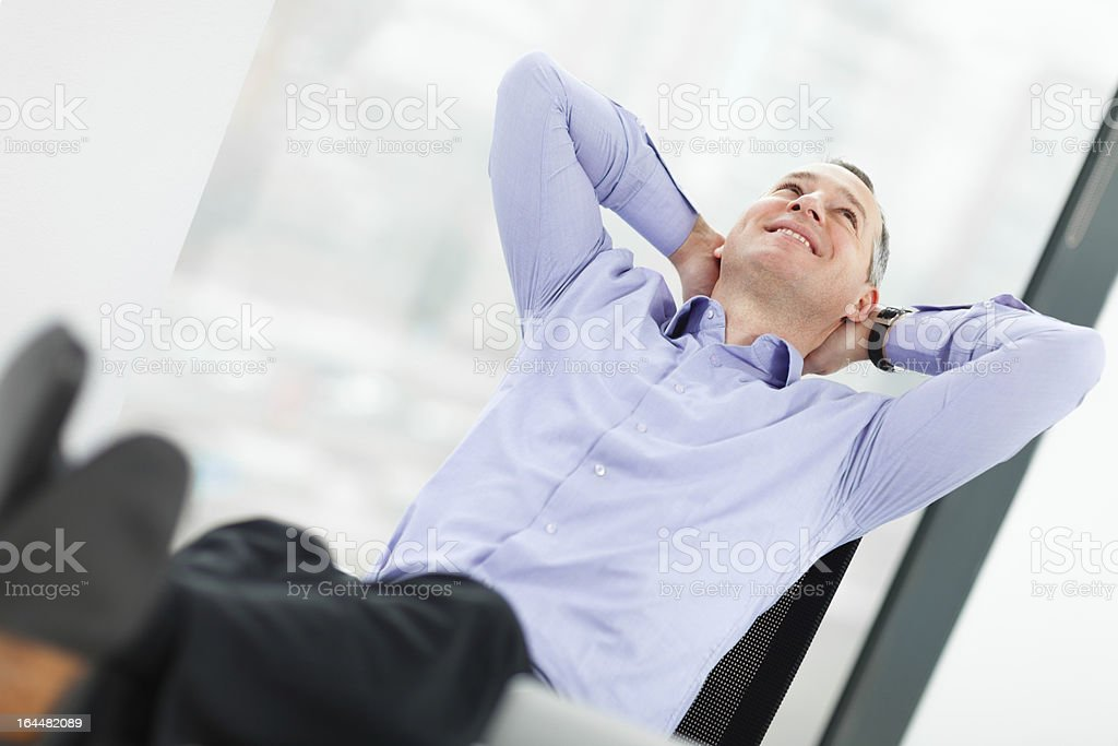 Taking a break from work royalty-free stock photo