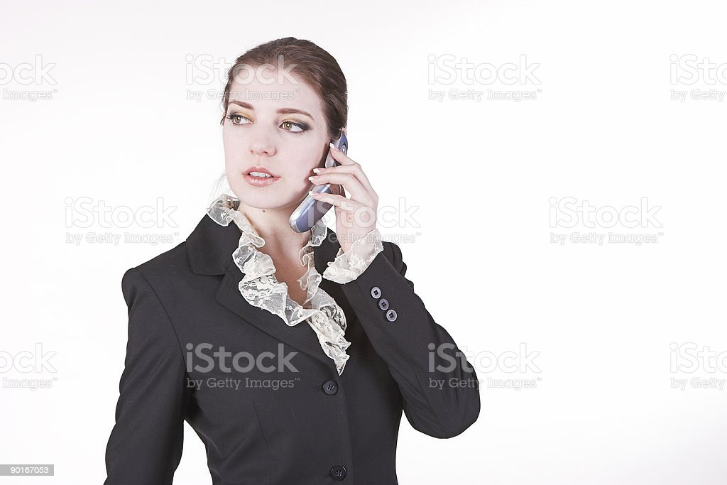Taking a call royalty-free stock photo