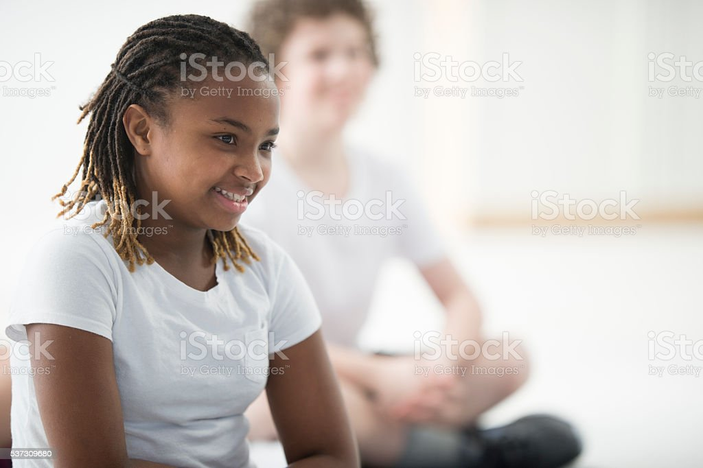 Taking a Class Together at School stock photo