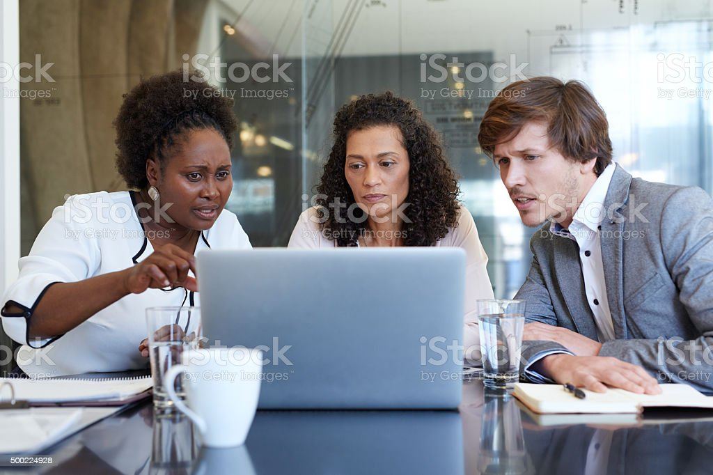 Taking a closer look at the financial data stock photo