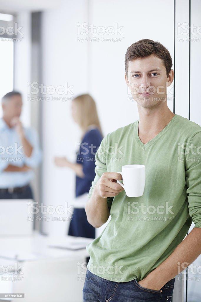 Taking a coffee break royalty-free stock photo
