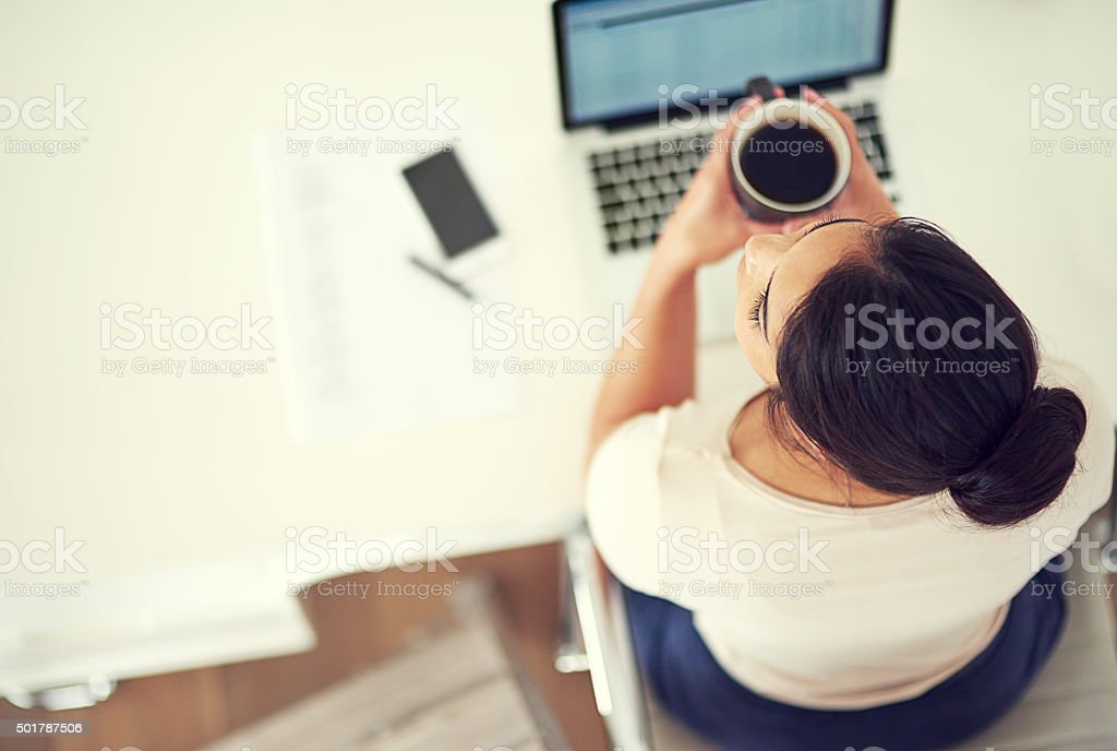 Taking a coffee break stock photo