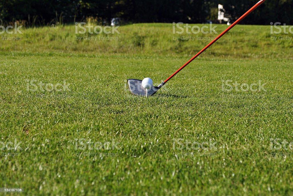 taking a golf shot royalty-free stock photo