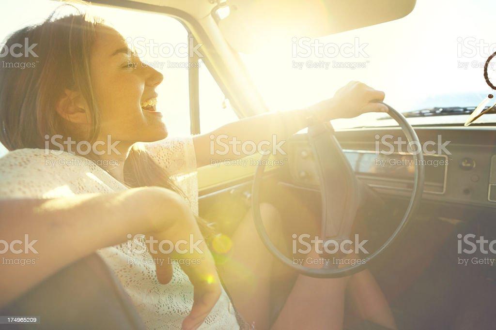 Taking a laidback roadtrip royalty-free stock photo