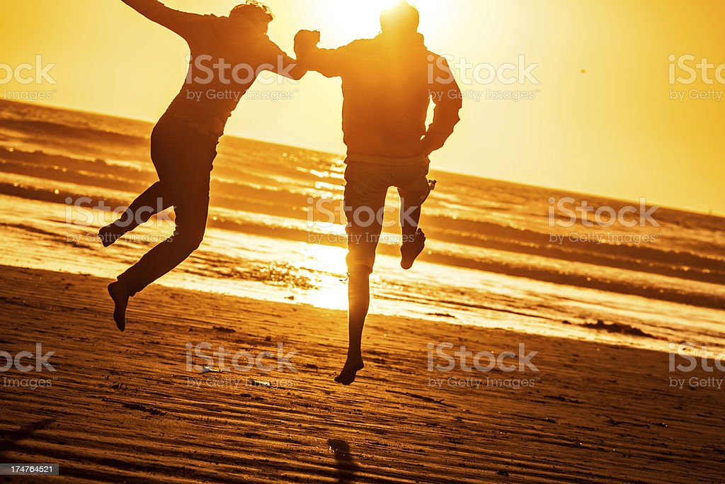 Taking a leap royalty-free stock photo