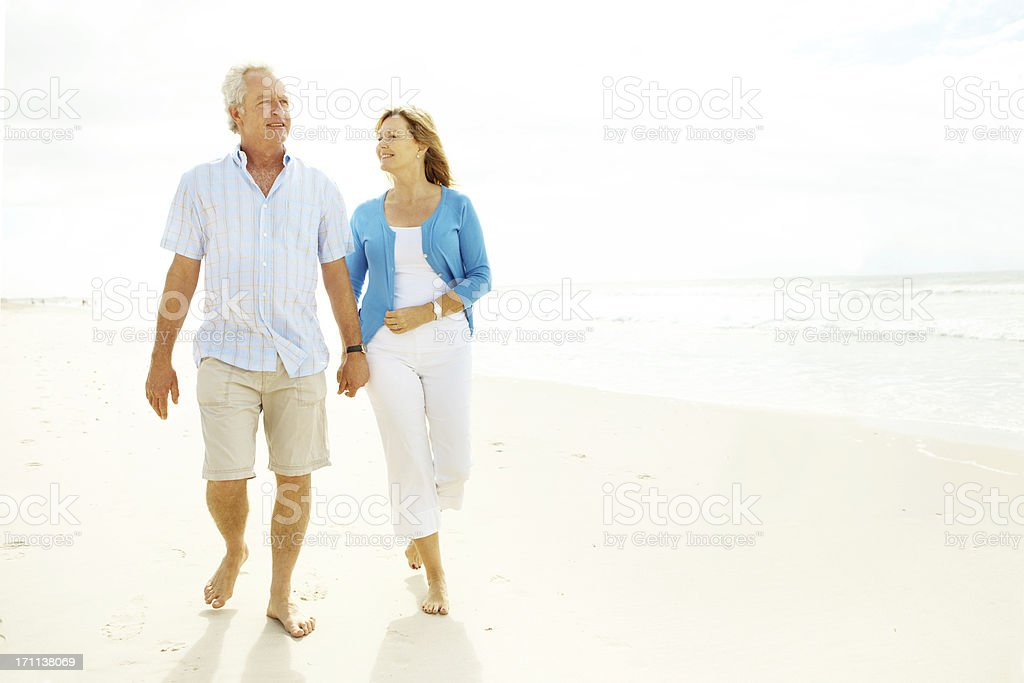 Taking a leisurely stroll royalty-free stock photo