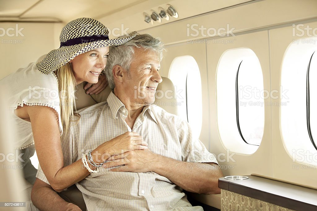 Taking a luxury trip stock photo