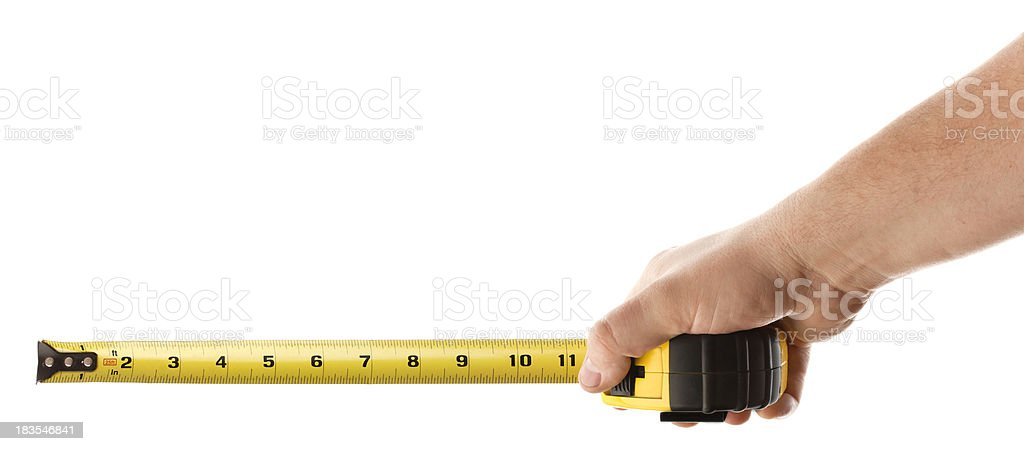 Taking a Measurement stock photo