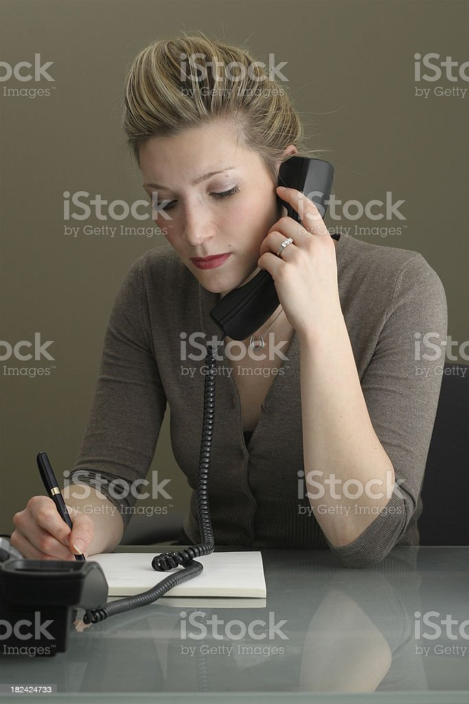 Taking A Message royalty-free stock photo