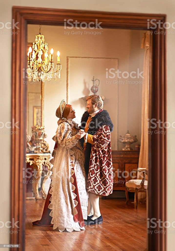 Taking a moment away from royal duties stock photo
