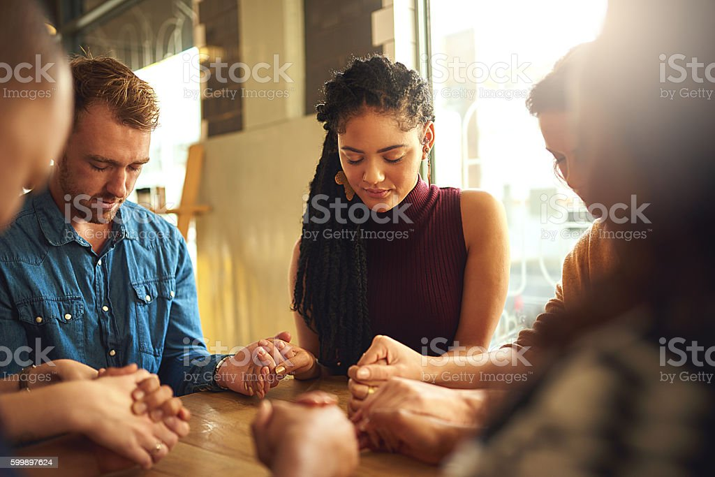 Taking a moment together stock photo