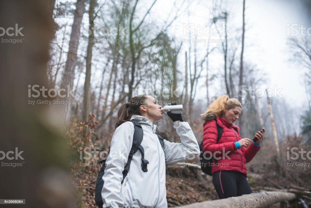 Taking a necessary break stock photo