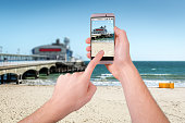 Taking a photo of Bournemouth Pier with a smartphone