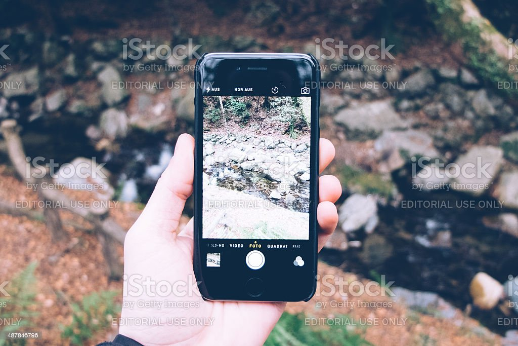 taking a photo with smartphone stock photo