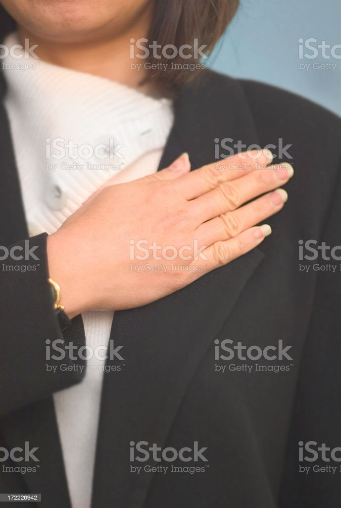 taking a pledge stock photo