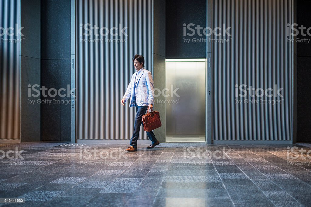Taking a quick break stock photo