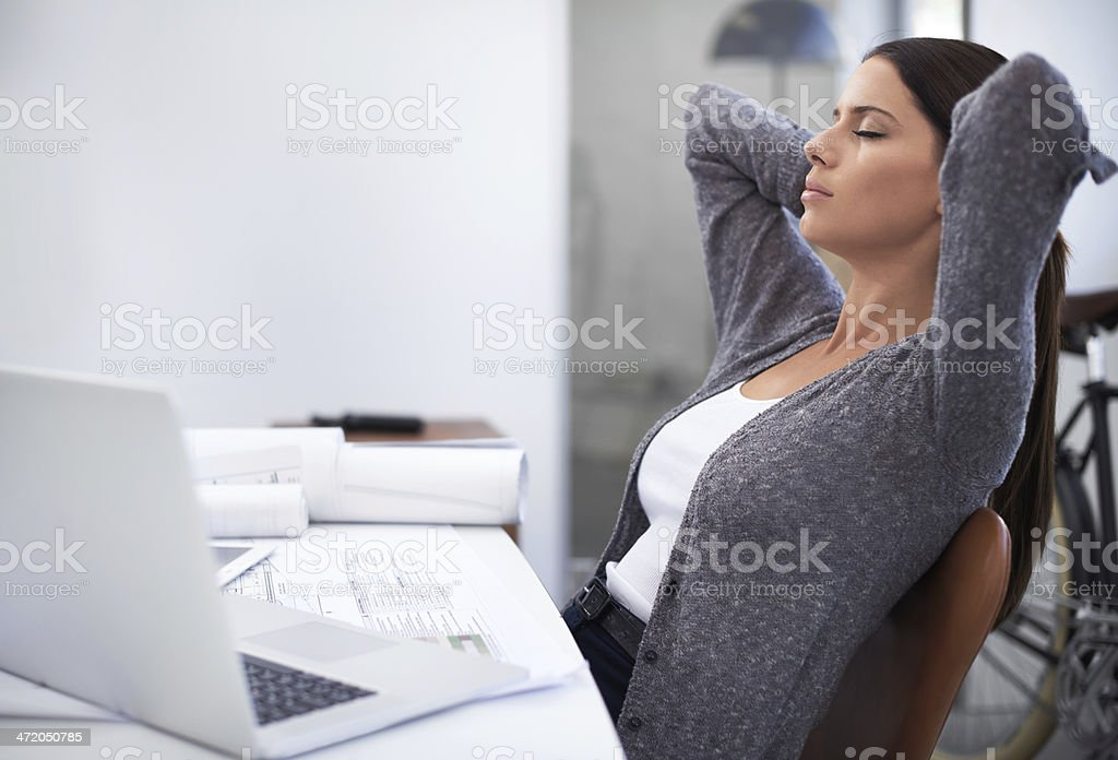 Taking a quick breather stock photo