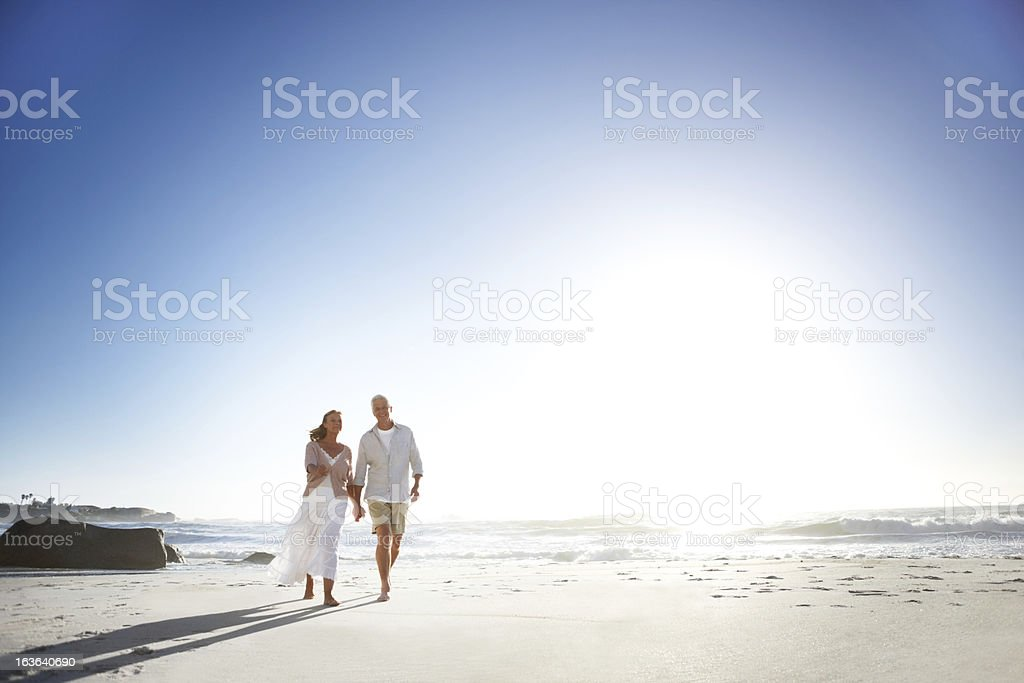 Taking a relaxing stroll royalty-free stock photo