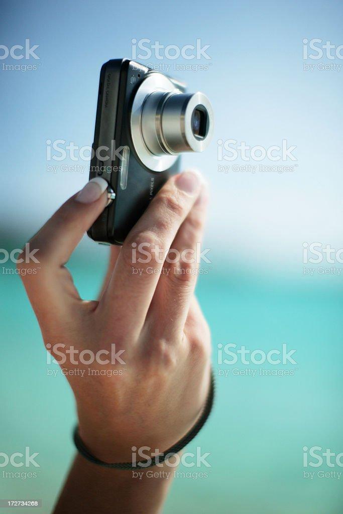 Taking a snapshot royalty-free stock photo