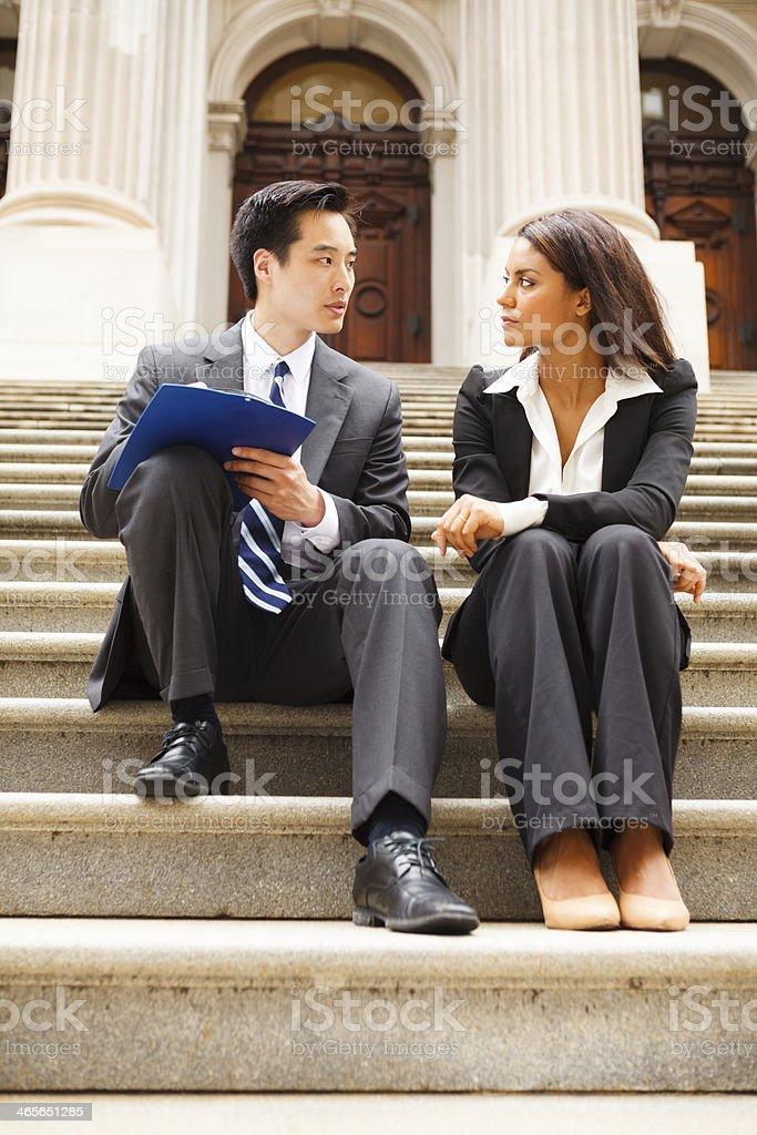 Taking a Survey royalty-free stock photo