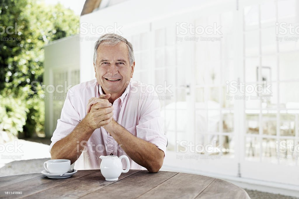 Taking a well-deserved break royalty-free stock photo