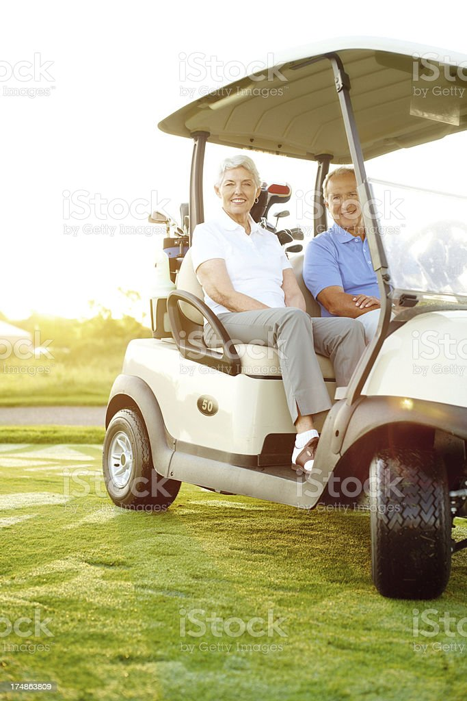 Taking advantage of their retirement royalty-free stock photo