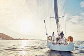 Taking an adventurous boat cruise