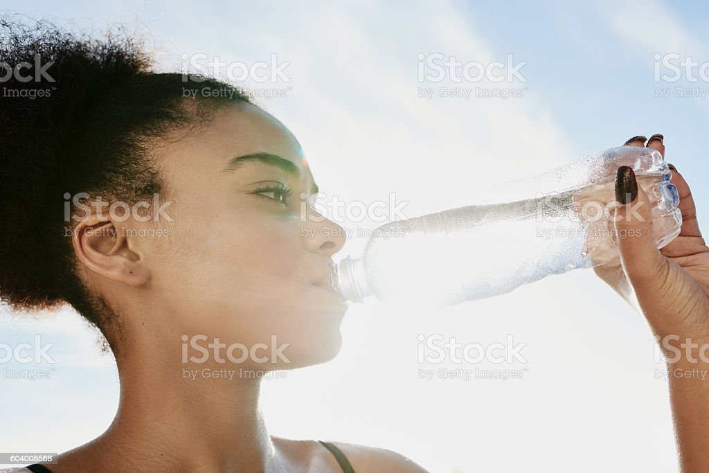 Taking an H2O timeout stock photo