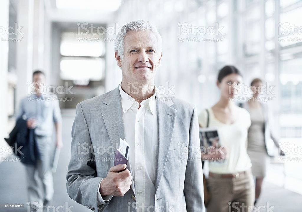Taking an important business trip royalty-free stock photo