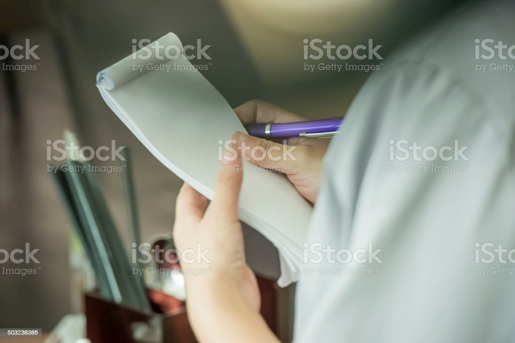 Taking an order stock photo